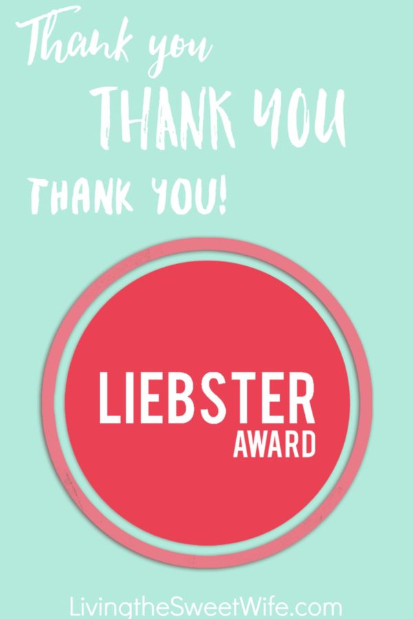 Leibster Award Living the Sweet Wife
