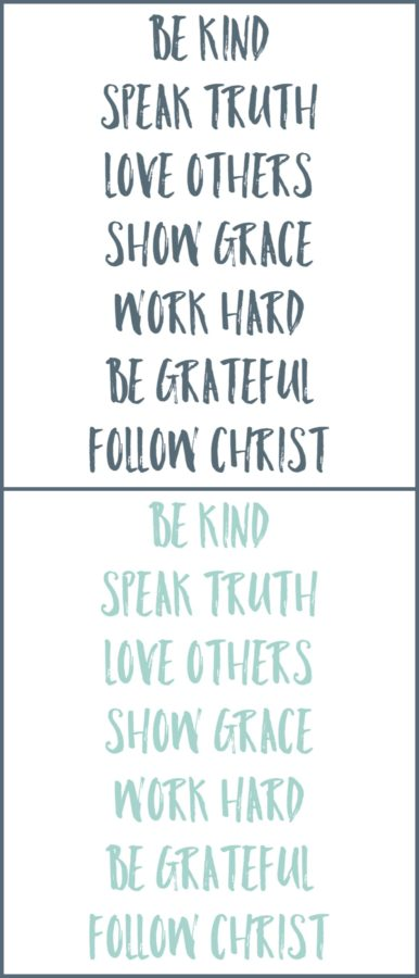 Be Kind Speak Truth Free Printables