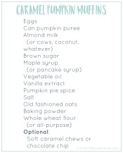 Caramel Pumpkin Muffins Shopping List Preview