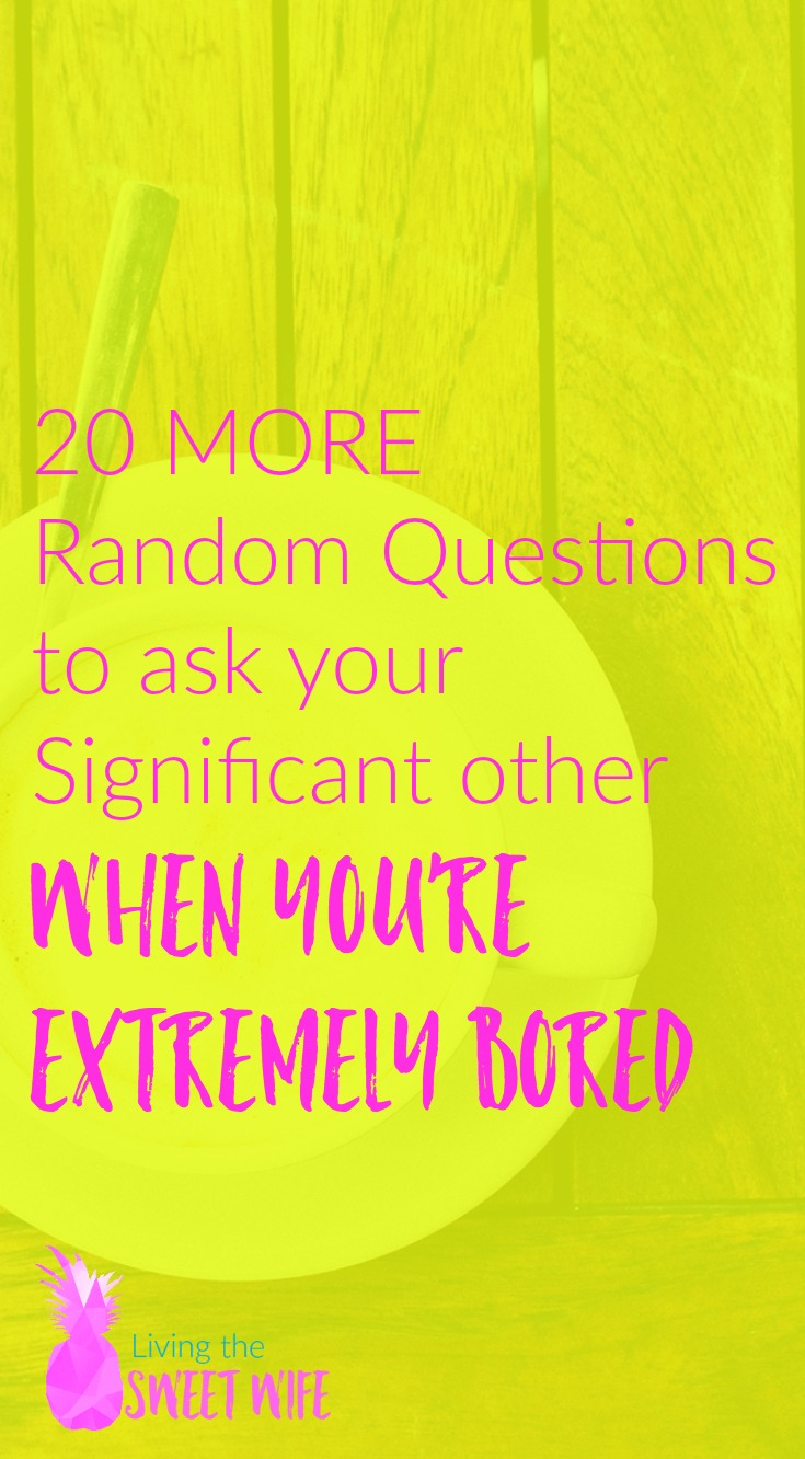 For all those times when you realize you've been sitting with the one you love for over an hour and you haven't said five words to each other whether it's out of boredom or too much technology, use these questions to get the conversation moving again and to learn more about your loved one (or ones!).