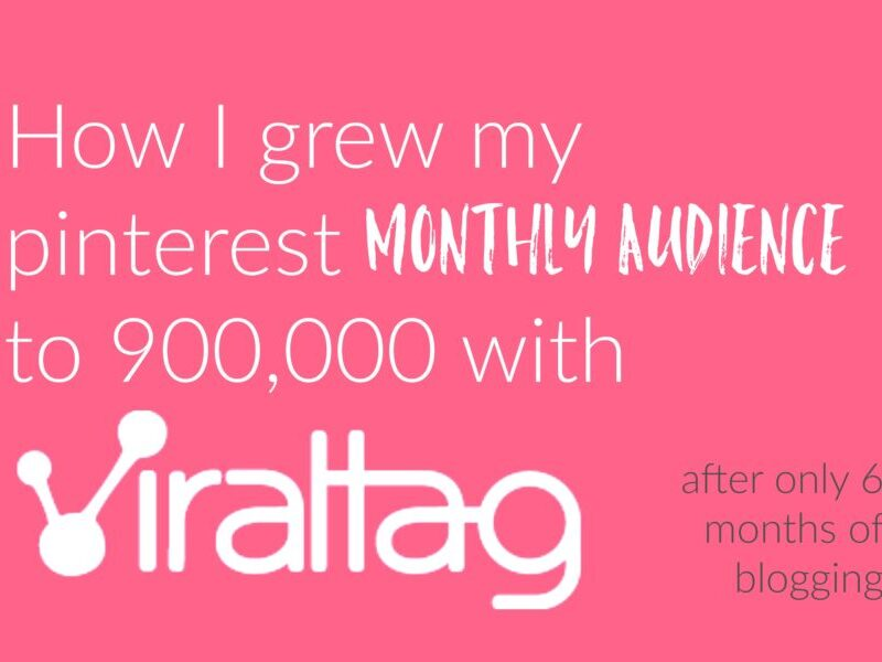 How I grew my pinterest monthly audience to 900,000 with Viraltag