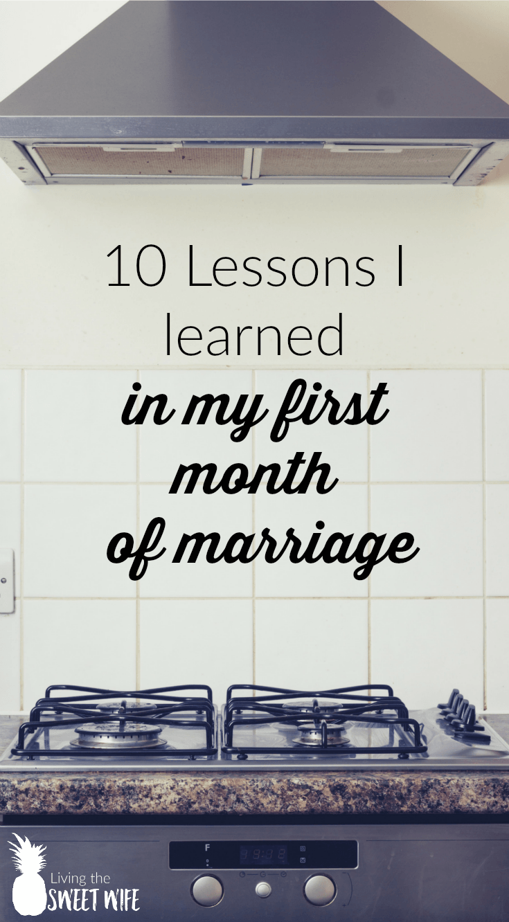 """A few of """"Huh..."""" moments I had within my first month of marriage."""