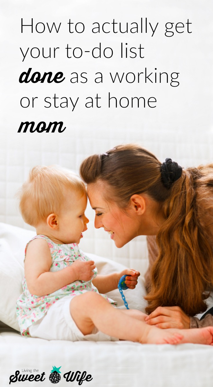 "Let's face it, as moms we can sometimes let our to-do lists pile up, but it's an honest mistake! We know all too well what it's like to be pulled in 20 different directions at once, and all the little ""interruptions"" that make up what we like to call ""#momlife,"" aren't looking to go away any time soon. And we don't want them to! But sometimes a mama had GOT to get stuff done! So what's a girl to do? I've come up with a list to help any mama, working or stay at home, actually get her to-do list DONE. #VTechBaby #ad"