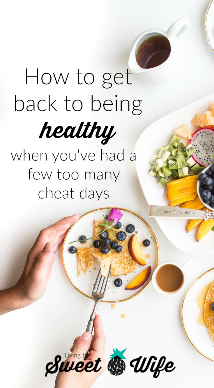 "It can be overwhelming when you know you want to ""get back on track,"" but you feel like you have a long way to go. Today, I'm here to share 6 little ways you can get back to being healthy. They don't involve anything crazy. Just small lifestyle changes that will leave you feeling better and back on track to a healthier life."