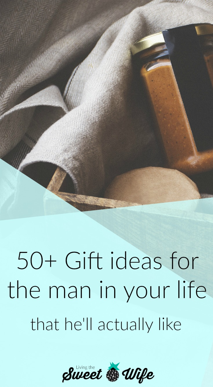 So for all of us who have to shop for a man, this list is for you. I've come up with over 50 gift ideas for all types of men with all types of interests