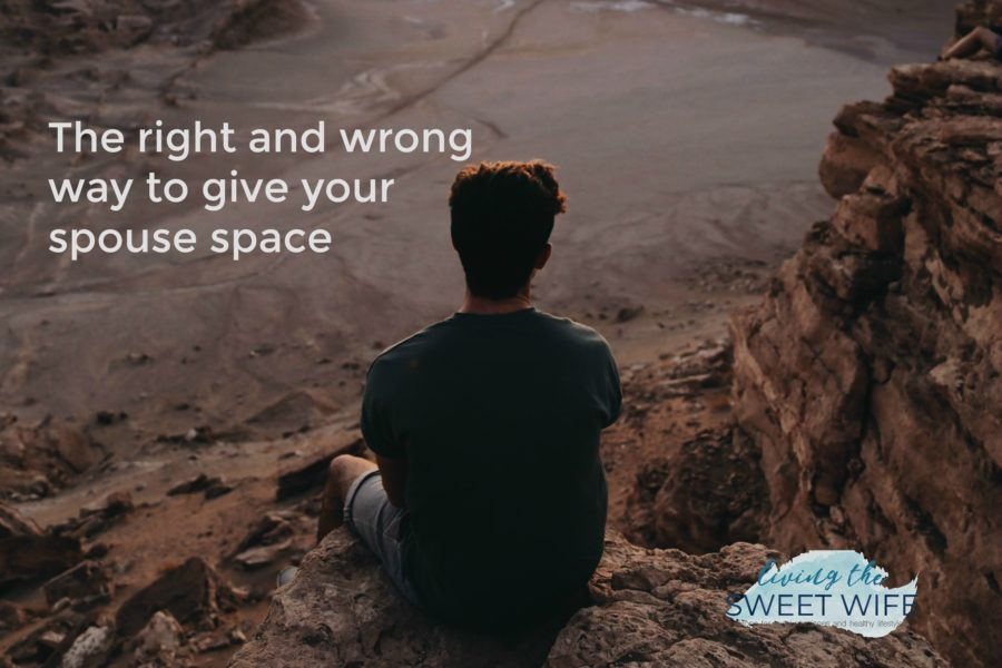 Sure, they say don't go to bed while you're still angry, but sometimes husbands and wives just need some space! That being said, there are healthy ways and unhealthy ways (productive and hurtful, if you will) to get space away from a spouse. Let's talk about those.