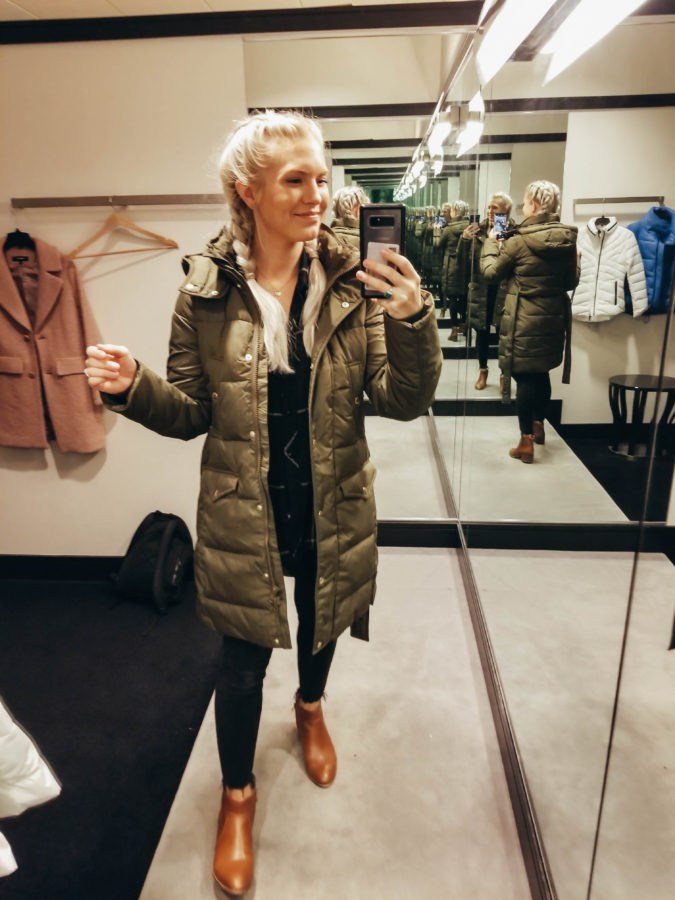 J.CREW Wintress Belted Down Puffer Coat