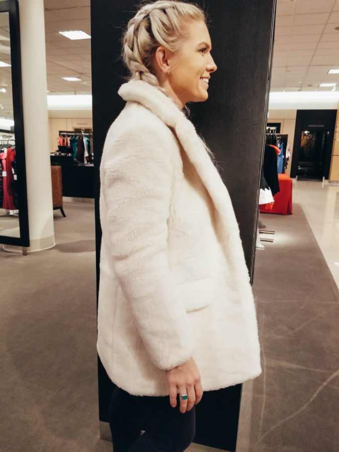 J.CREW Yuna Teddy Faux Fur Jacket